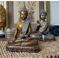 Wholesale imitation bronze sculptures resale online - Resin imitation bronze Buddhism Bodhisattva Sakyamuni Buddha Statue sculpture Vintage Buddha head crafts Exorcise evil spirits