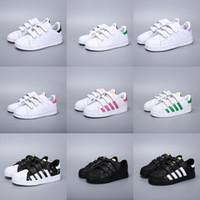 chaussures de sport d'hiver pour filles achat en gros de-Adidas Superstar enfants chaussures garçons filles baskets 2018 printemps automne hiver nouvelle arrivée mode super star casual chaussures enfant chaussures