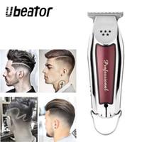 saç kesme makineleri toptan satış-Elektrikli Saç Kesme Saç Düzeltici Kesme Makinesi Sakal Berber Jilet Erkekler Için Stil Araçları Profesyonel Kesici Taşınabilir Akülü T9190617