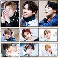 корейские плакаты оптовых-Kpop NCT 127 плакат NCT 2018 корейский группа плакат современный стиль с белым покрытием четкое изображение украшения дома хорошее качество печати B2