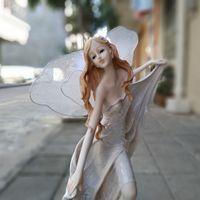 ingrosso ornamenti di fata dell'angelo-Grandi dimensioni Mestiere Europeo Resina Bella Angelo, Menzione gonna Fata Figurine Regalo di Nozze decorazioni per la casa decorazione ornamenti (A655)