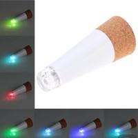 ingrosso bottiglia usb forma-Originalità lampade a forma di sughero ricaricabile USB bottiglia luci LED lampada tappo di sughero bottiglia di vino notte luce partito natalizio arredamento C6315