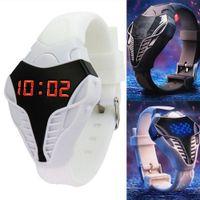 relógios de pulso mais legais venda por atacado-Crianças Lembrete Triângulo Dial Fresco Relógio Digital Calendário Esporte Unisex Led Presente Dia Dos Namorados Relógio De Pulso Eletrônico # 137
