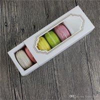 ingrosso confezione regalo macaron-Scatola di 5 cassetti Scatola di confezionamento Hot nuova finestra di Macaron, scatola per dolci, confezione regalo 200PCS / LOT