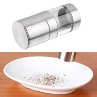 Wholesale salt spice grinder for sale - Group buy Stainless Steel Pepper Mill Grinder Manual Salt Portable Kitchen Mill Muller Home Kitchen Tool Spice Sauce Grinder Pepper Mill FFA2808