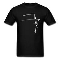verblassen kleidung großhandel-T-shirts Männer Neueste T-shirt Schwarz O Hals Heisenberg T-shirt Kein Verblassen Druck Nagelneue Kleidung Baumwolle Top Teeshirt Drop Shipping