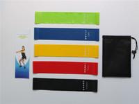 treinamento de borracha venda por atacado-5pcs / lot faixa da resistência da aptidão Latex Gym Strength Training Rubber Loops Bandas fitness equipamentos desportivos cinto yoga Brinquedos