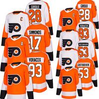 Wholesale cheap flyers jerseys for sale - Philadelphia Flyers embroidery cheap Wayne Simmonds jersey Jakub Voracek Shayne Gostisbehere Claude Giroux