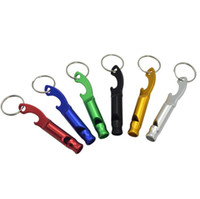 Wholesale Multifunctional metal Whistle Keychain Aluminum alloy Gadgets Emergency Survival tool whistle For Camping Hiking Training keyring whistle