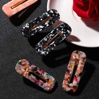 ingrosso accessorio giapponese dei capelli-2Pcs Japan Women Acetic Acid Hair Clips Forcine Leopard Print Waterdrop Barrettes Girls Hairgrips Accessori per capelli