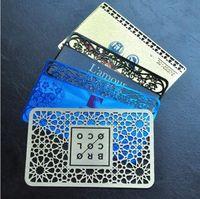 образец визитных карточек оптовых-(100 шт. / Лот) гарантированное качество выдалбливают металл визитная карточка