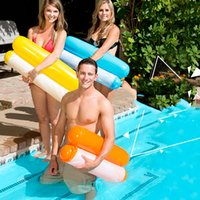 piscinas plegables al por mayor-nuevo Plegable Flotante Hamaca de agua Flotador Tumbona Portátil Juguetes flotantes Inflable Cama flotante Silla Piscina Hamaca inflable Cama