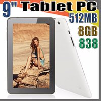 Wholesale tablet 9 android for sale - Group buy 838 cheap inch Dual camera Quad Core Android Tablet PC MB GB GHz Allwinner A33 A PB