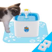 ingrosso fontana elettrica-Ciotola per bere cane / gatto / uccello con fontana da 2,5 litri elettrica automatica per animali domestici da piazza con fiore