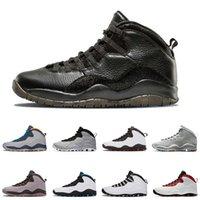 erkekler için serin basketbol ayakkabıları toptan satış-Nike Air Jordon 10 10 Erkekler Basketbol Ayakkabı Westbrook Im Geri Çimento Bobcats Gri Kızılötesi Chicago Serin Gri Jumpman 10 S Tasarımcı Spor Sneakers 7-13