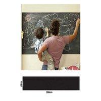 papel autocolante para giz venda por atacado-Adesivos de parede Blackboard Quadro de Giz Preto Adesivo Ambiental Chalkboard Mini Childrem Portátil Decal Peel Vara No Papel De Parede