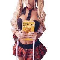 plus größe sexy cosplay großhandel-2xl Plus Größe Cosplay Student Dessous Sexy Hot Erotic Kostüme Schulmädchen Sexy Plaid Uniform Frauen Porno Babydoll Sex Unterwäsche Y19070202