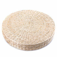 мягкое сидение оптовых-Straw Weave Grass Cushion Furniture Round Mat Pillow Cushion Pad Handmade Chair Seat Pad Zen Outdoor Seat Beige Floor