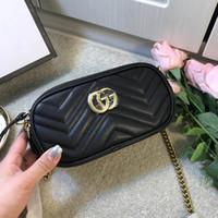 ingrosso sacchetto nero del vestito-MARMONT Womens Luxury Wave Borse a spalla cuore Nero Borse in pelle rossa 2019 Moda donna Crossbody Bag catena piccolo vestito Totes