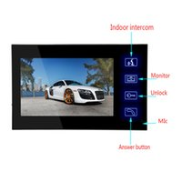 night vision color ccd camera großhandel-7-Zoll-High-Definition-TFT-Farb-CCD-Video-Gegensprechanlage Türklingel-Überwachungskamera zur Wandmontage wasserdichtes Nachtsichtsystem
