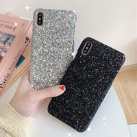 Wholesale iphone cases bulk online – custom Gold Bling Powder Siliver Phone Case for Iphone Pro Max X XS MAX XR s Plus Bulk Sparkle Rhinestone Crystal Cover
