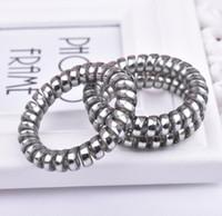 zahnfleisch armbänder großhandel-Telefonleitung Haar Ring Armband Elastisches Haarband Für Mädchen Haar Gummiband Haargummi Ring Gum
