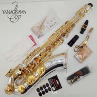 nave de la placa de níquel al por mayor-Calidad saxofón tenor nuevo YANAGISAWA T-WO37 chapado en níquel oro llave Sax profesional boquilla envío gratis