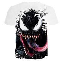 случайный тройник спортивных женщин оптовых-Venom футболка 3D печатных спортивная одежда Мужчины Женщины лето повседневная Tee Marvel футболки