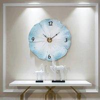dessins de peinture de salon achat en gros de-Trois dimensions gaufrée Accueil Horloge murale Design moderne Peinture décorative Art 3D Horloge Salon décoratif Quartz