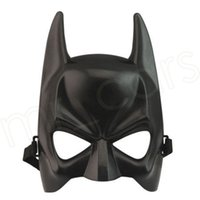 Wholesale funny cartoon masks resale online - Cartoon Movie Mask Party Masks Halloween Children Masks Fashion Funny Black Half Face Party Cosplay Movie Character Mask HHA380