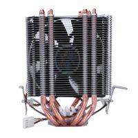 1155 процессорный кулер оптовых-LANSHUO 4 Heat Pipe 4 Wire Without Light Single Fan Cpu Fan Radiator Cooler Heat Sink For Intel Lga 1155/1156/1366 Cooler