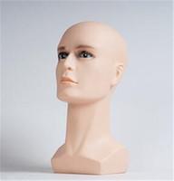 ingrosso manichino capelli uomo-Fashion Hot New Design Mannequin Heads Men Testa strumento per capelli per la visualizzazione di prodotti per capelli Cappelli in pvc Display materiale