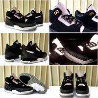 canastas de deportes al por mayor-2019 New 3s Black Cement 3M Reflective Mens Basketball Shoes Men Tinker 3 Sports Sneaker Trainers des chaussures Canastas Tamaño del zapato 7-13