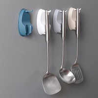 Wholesale rotating spoons resale online - Creative Kitchen Cabinet Hook Kitchenware Rotating Hook Paste Wall mounted Non wall Spatula Spoon Saves Space