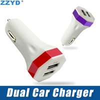Wholesale ZZYD Car Charger Mini U Portable Charger Universal Dual Ports Iphone Charger for iPhone Xs max Xr Samsung