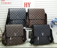 Wholesale Mens Briefcase Business Bags Casual Business PU Leather Mens Messenger Bag Vintage Men s Crossbody Bag Bolsas Black Brown Shoulder Bags