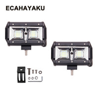 luces de caza de coche al por mayor-ECAHAYAKU 5 pulgadas 54W LED Light Bar Flood Combo Beam Off-road 12V 24V Lámpara de trabajo para ATV 4WD 4X4 Canotaje Caza Car styling
