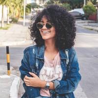 hintli remily kıvırcık dantelli peruklar toptan satış-Hint Remy İnsan Saç Peruk Bakire Afro Kinky Kıvırcık Tam Dantel Ön Peruk Bebek Saç Ile