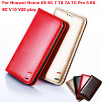 Wholesale iphone 5c flip cases for sale – best For Huawei Honor Lite Case on Flip Wallet Case For Huawei Honor C X C X A C Pro X C V10 V20 play Phone Cases