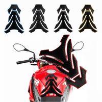 protetores de tanque de motocicleta venda por atacado-Tanque de borracha 3D Fishbone Etiqueta Three-Dimensional Pad Protector Will Not Fade Motos Etiquetas engraçado decoração adesivo