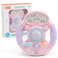 Wholesale electronic music toys online - Steering Wheel Piano Music Toys Kids Electronic Keyboard Early Educational With Lights Games Gifts db F1