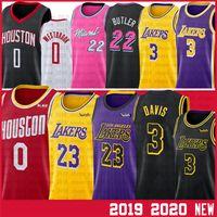 camiseta de baloncesto james al por mayor-23 LeBron James Baloncesto NCAA jerseys Russell Westbrook 0 22 Jimmy Butler, Anthony Davis Jersey 3