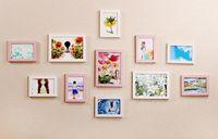 decoração moderna da família venda por atacado-Hot Home 11 Pcs Wall Hanging Photo Frame Set Para Corredor Quarto Sala de estar Decoração de Parede Arte Moderna Home Decor Família Exibição de Imagem
