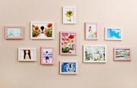 yatak odası dekor fotoğrafları toptan satış-Sıcak Ev Için 11 Adet Duvar Asılı Fotoğraf Çerçevesi Set Koridor yatak odası Oturma Odası Duvar Dekorasyon Modern Sanat Ev Deko ...