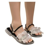 Wholesale kids home slippers for sale - Group buy 2020 New Summer Girls Sandals Infant Kids Baby Non slip Home Slippers Crystal Princess Pu Leather Shoes Sandalias Agua Niña