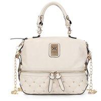 Wholesale womens handbag rivets online - Fashion Designer Luxury Handbags Purses Womens Bags Single Shoulder Bag Handbag Rivet Double K Chain Style Newest Arrival Hot Sale Colors