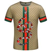 yeni tasarım gömlek tasması toptan satış-2019 Yeni Lüks Marka Tasarım erkek Moda Yaz T Gömlek Mektup Baskı Yuvarlak Yaka T-shirt Erkekler Için Boyutu M-3X