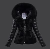 mejores chaquetas de invierno al por mayor-Chaqueta de invierno para mujer de alta calidad para mujer, cuello de piel de zorro real 90% pato dentro de la capa cálida femenina con la mejor calidad