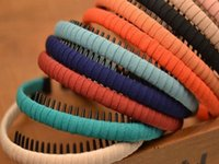 cabeçalhos de jóias venda por atacado-Coreano de alta qualidade Enrole Tecido Cabeça Com os dentes das crianças meninas Hoop na Perfuração de Poços Acessórios Jóias DIY