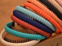 ingrosso involucri testa di gioielli-Coreano di alta qualità Wrap testa di stoffa con denti di bambini Capelli ragazze cerchio per trapano per gioielli fai da te accessori